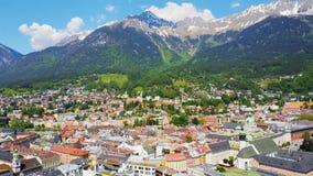 Innsbruck aerial view stock video