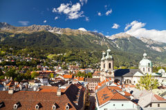 Innsbruck, Austria. View of the city Innsbruck, Austria Royalty Free Stock Photo