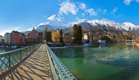 Innsbruck Austria. Architecture and nature background Royalty Free Stock Image