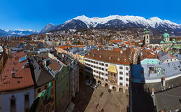Innsbruck Austria. Architecture and nature background Stock Image