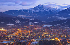 Innsbruck Austria. Architecture and nature background Stock Photo