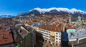 Innsbruck Austria. Architecture and nature background Stock Images