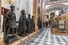 Innsbruck, Austria. Cenotaph of Maximilian I, Holy Roman Emperor, inside the Hofkirche Court Church. Innsbruck, State of Tyrol, Austria Stock Photos