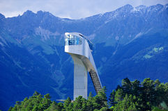 Innsbruck. AUSTRIA JUNE 14:  as well as the fascination of a ski jumping venue with an Olympic past and modern architecture typify the Bergisel Ski Jump. On Stock Photography