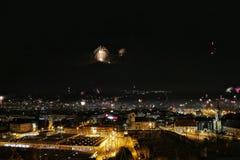 Innsbruck bij nacht Royalty-vrije Stock Afbeeldingen