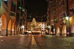 Innsbruck bij nacht Stock Foto's