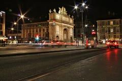 Innsbruck bij nacht Stock Fotografie
