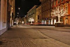 Innsbruck bij nacht Royalty-vrije Stock Foto