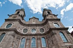 Innsbruck Cathedral Stock Photography