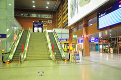 Innsbruck Central station - escalators Stock Image