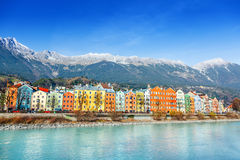 Innsbruck cityscape, Austria Royalty Free Stock Images