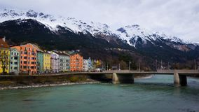 Innsbruck cityscape. Innsbruck is the 5th biggest city in Austria and lies directly in the alps royalty free stock photography