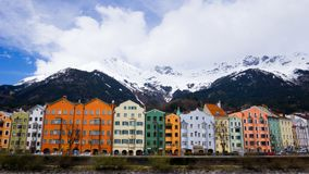 Innsbruck cityscape. Innsbruck is the 5th biggest city in Austria and lies directly in the alps royalty free stock images