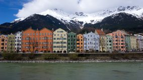 Innsbruck cityscape. Innsbruck is the 5th biggest city in Austria and lies directly in the alps royalty free stock photo