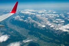 Innsbruck e le alpi Immagini Stock Libere da Diritti