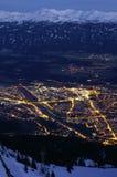 Innsbruck entro Night Fotografie Stock Libere da Diritti