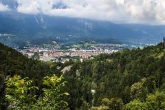 Innsbruck gesehen vom Süden Stockfoto