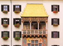 Innsbruck guld- tak Arkivbild