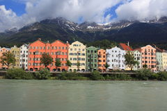 Innsbruck. From the Inn river, Austria Royalty Free Stock Image