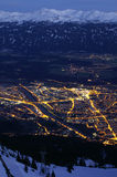 Innsbruck by Night. Innsbruck seen at night from Nordkette Royalty Free Stock Photos