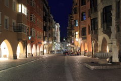 Innsbruck at night Stock Image