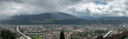 Innsbruck Od Hungerburg Fotografia Royalty Free