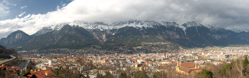 Innsbruck Panorama Royalty Free Stock Images
