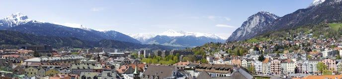 Innsbruck-Panorama Lizenzfreies Stockbild