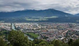 Innsbruck-Panorama Lizenzfreie Stockfotos