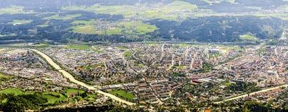 Innsbruck panorama arkivfoton