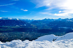 Innsbruck panorama Stock Photography