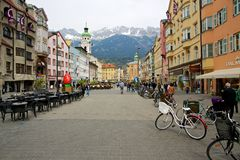 Innsbruck Pedestrian Area Royalty Free Stock Images