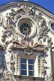 Innsbruck rococo. Detail showing overloaded decoration of one of the most famous rococo style buildings in Innsbruck, Austria Royalty Free Stock Images
