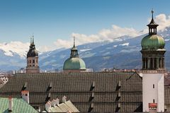 Innsbruck rooftops and spires Stock Photo