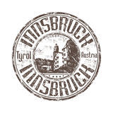 Innsbruck rubber stamp Stock Image