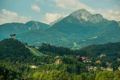 Innsbruck Ski Jump en Austria Fotos de archivo