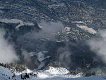 Innsbruck. From ski resort Nordkatte Austria, Alps Stock Photos