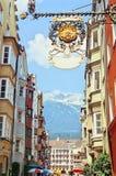 Innsbruck-Straße Stockfotografie