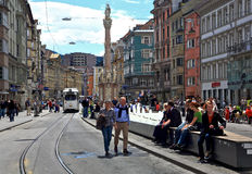 Innsbruck Street,Austria Royalty Free Stock Photography