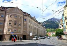 Innsbruck Street, Austria Royalty Free Stock Photo