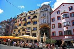 Innsbruck Street.Austria. Stock Photography