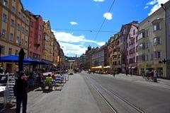 Innsbruck Street.Austria. Royalty Free Stock Image