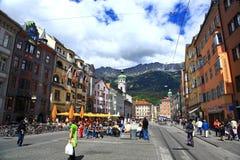 Innsbruck Street.Austria. Royalty Free Stock Photography