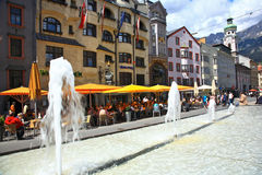Innsbruck Street.Austria. Stock Image
