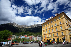 Innsbruck Street.Austria. Stock Photos