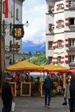 Innsbruck Street.Austria. Stock Photo