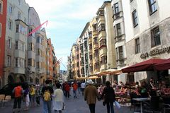 Innsbruck streets Royalty Free Stock Image