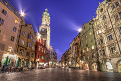 Innsbruck twilight, Austria Stock Photography
