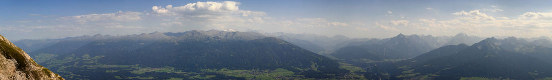 Innsbruck Valley. Valley of Innsbruck with the Austria mountains behind Royalty Free Stock Image