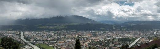 Innsbruck von Hungerburg Lizenzfreie Stockfotografie